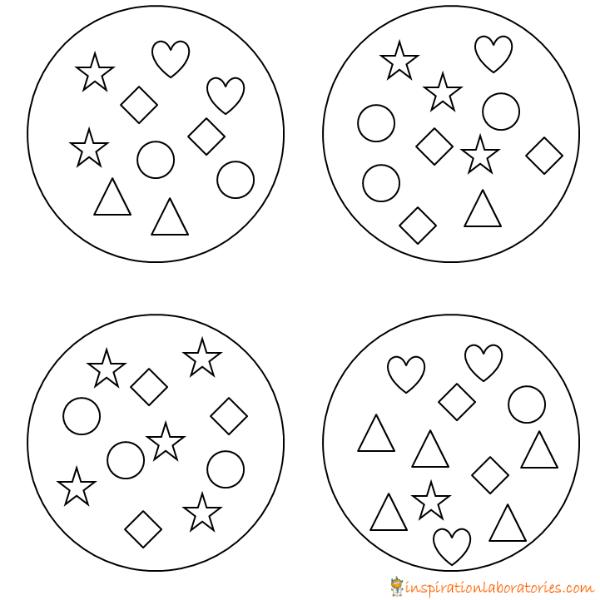 shape cookies printable