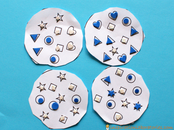 shape sticker cookies