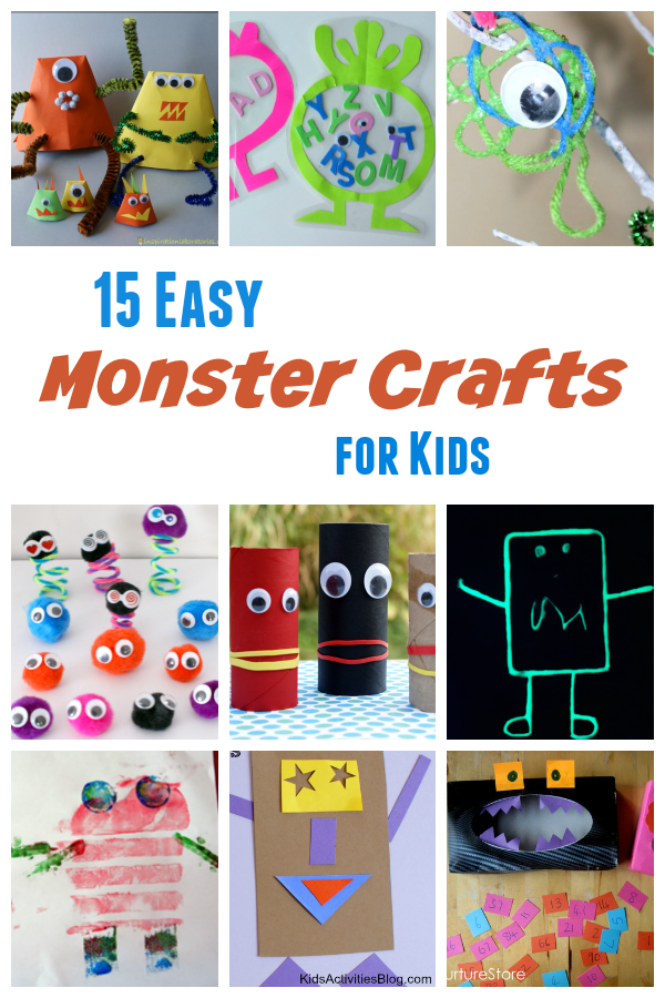 Easy Monster Crafts for Kids