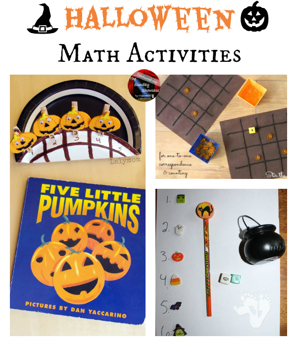 Halloween Math Activities Featured on the Sunday Showcase at Inspiration Laboratories