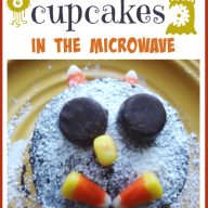 Monster Cupcakes in the Microwave
