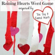 Raining Hearts Word Game