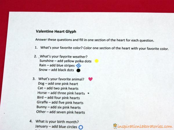 Valentine Heart Glyph Printable