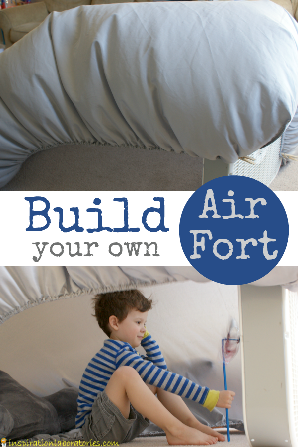 Your kids will love this awesome air fort and you'll love how easy it is.