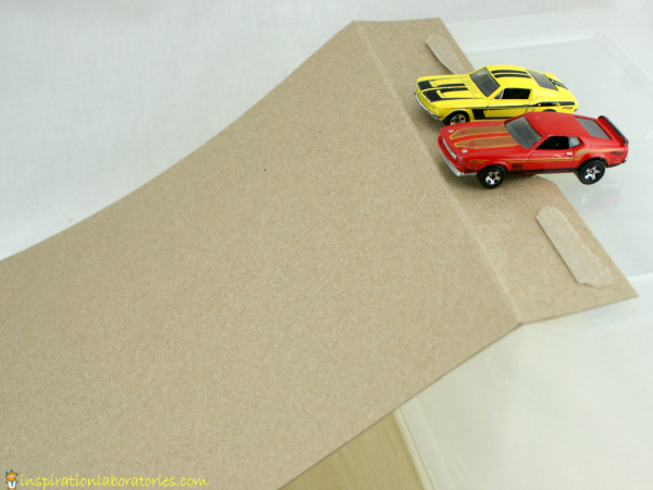 cars and ramps invitation to explore