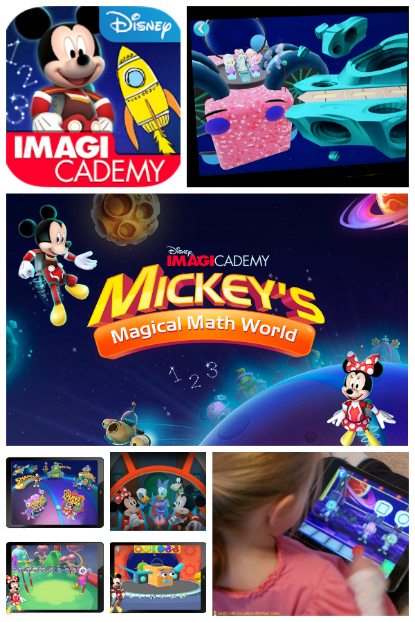 Disney Imagicademy Party sponsored by Disney - testing out Mickey's Math World and building rockets
