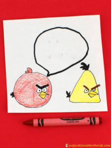 Angry Bird Valentines with Secret Messages