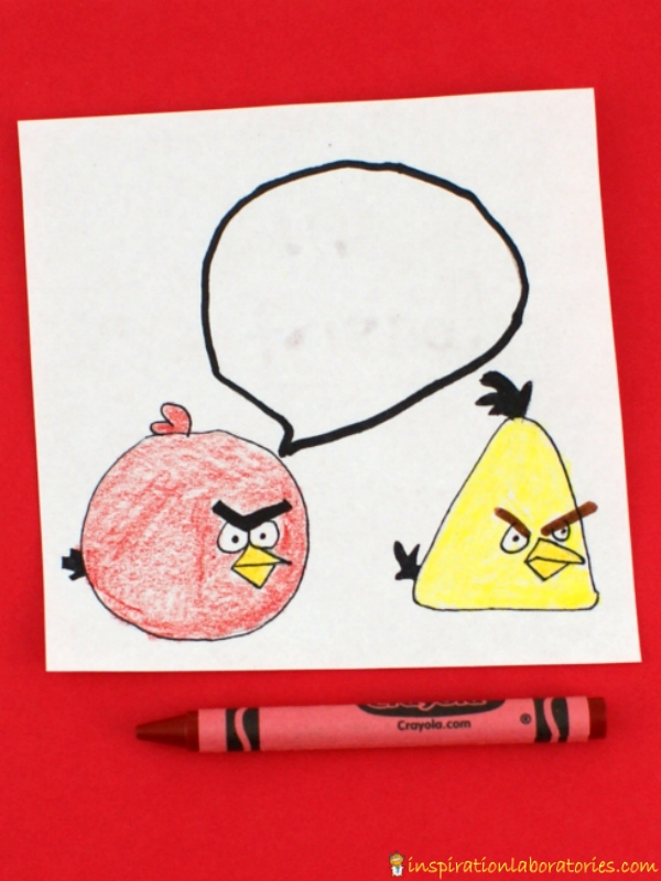 Make special Angry Birds Valentines with secret messages for your friends!