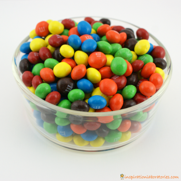 bowl of M&M's