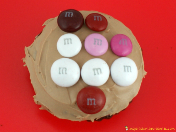 M&M's cupcake