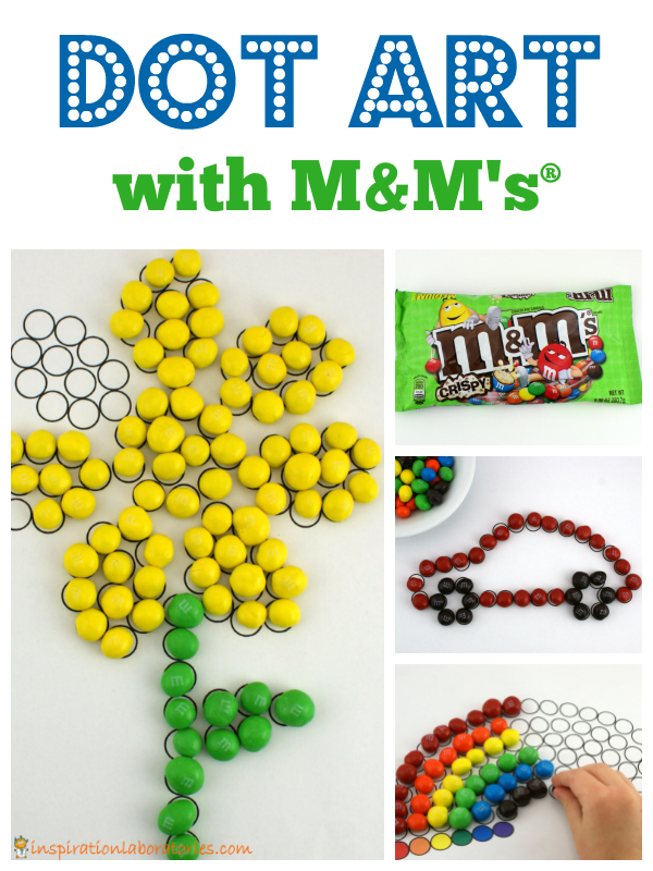 Dot Art with M&M's® Crispy. sponsored by M&M's