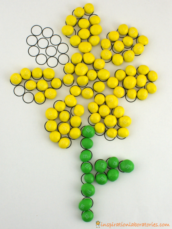 M&M's flower dot page