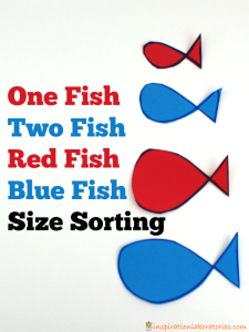 One Fish Two Fish Size Sorting Activity