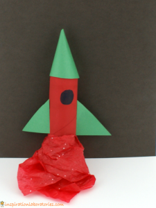 cardboard tube rocket