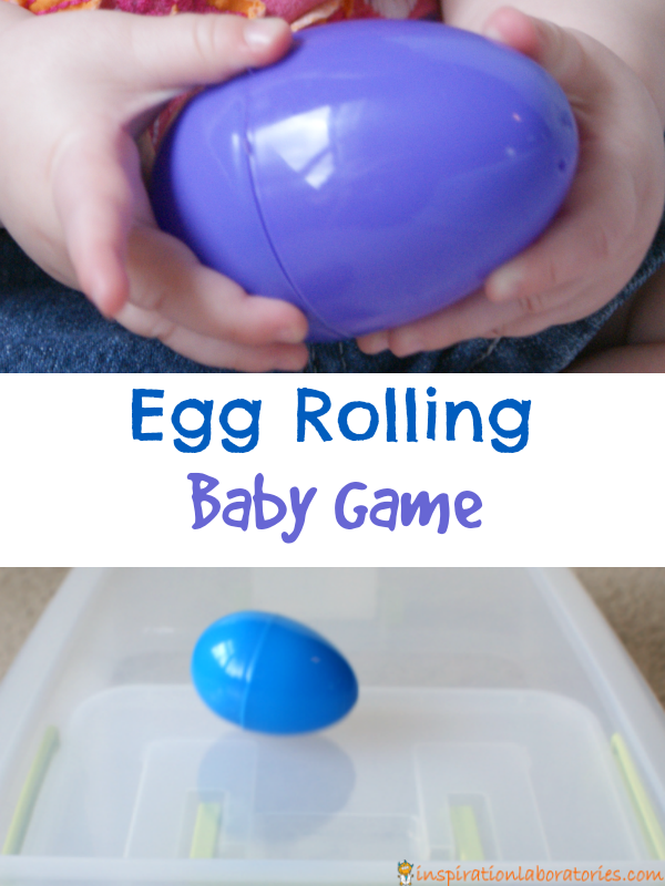 Babies and toddlers will love this game! Learn about cause and effect and explore ramps with egg rolling.