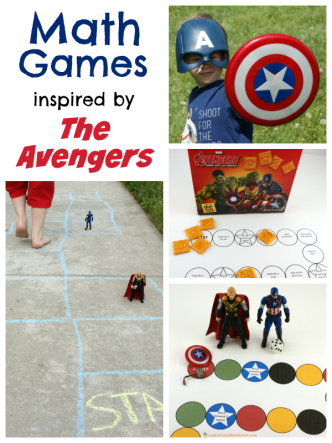 The Avengers Math Games - download the free printables or play outside. Sponsored by #AvengersUnite