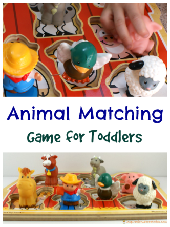 Animal Matching Game for Toddlers