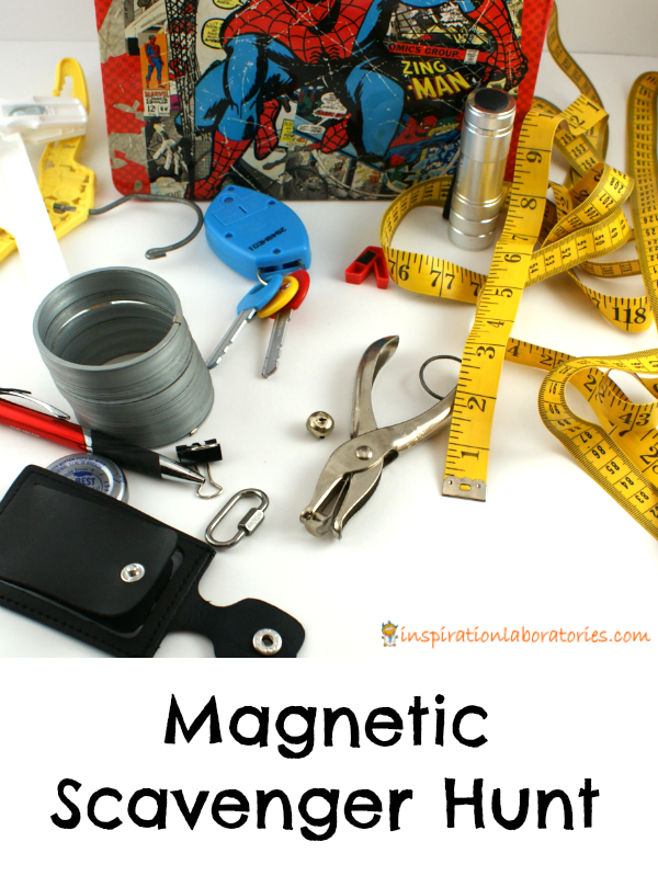Learn about magnets and go on a magnetic scavenger hunt