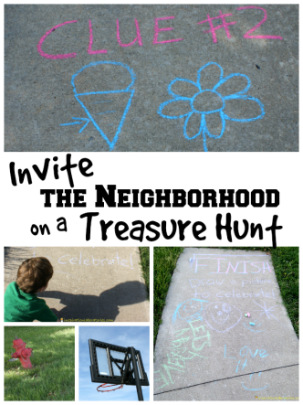 Invite the Neighborhood on a Treasure Hunt