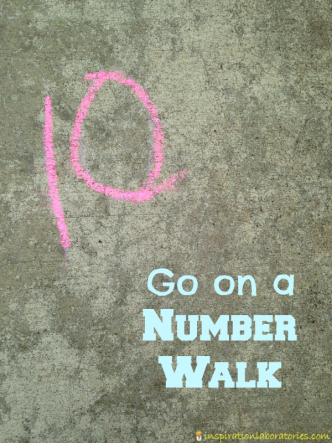 Go on a number walk to practice writing numbers!