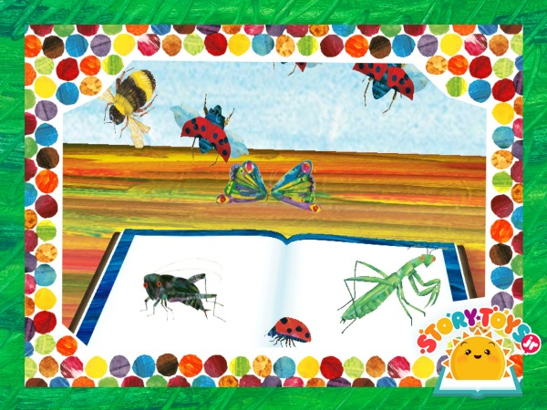 Very Hungry Caterpillar sticker scene