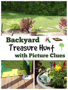 Backyard Treasure Hunt with Picture Clues