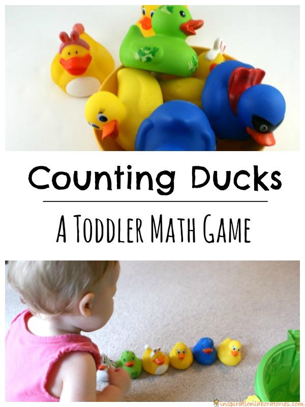 Counting ducks toddler math game