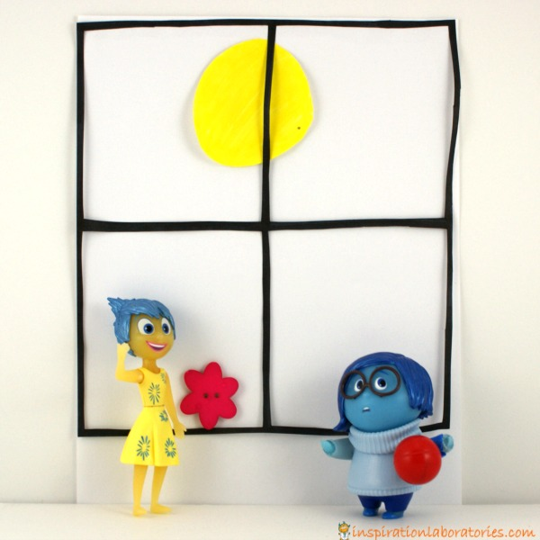 stop motion scene with Joy and Sadness