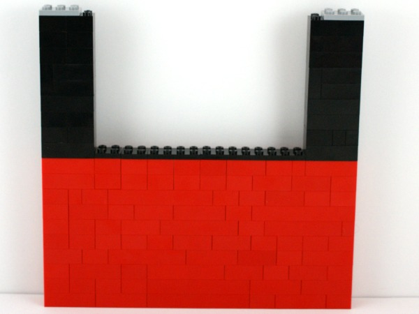 lego wall for puppet theater