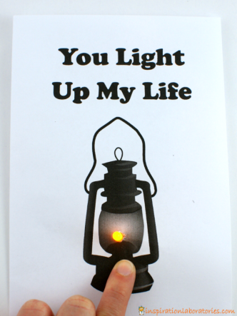 Push Button Light Up Card