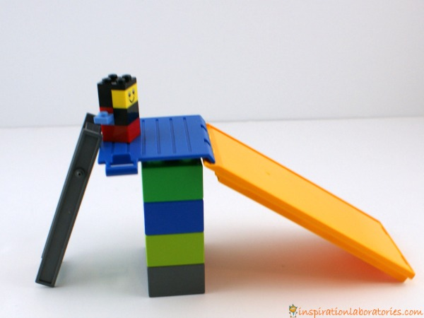 playground slide made from LEGO DUPLO