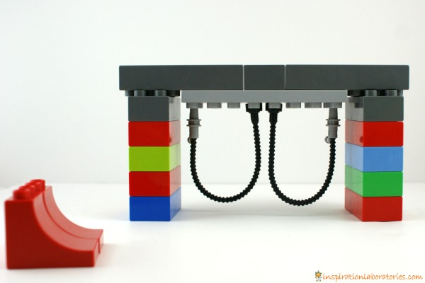 playground swing made from LEGO DUPLO