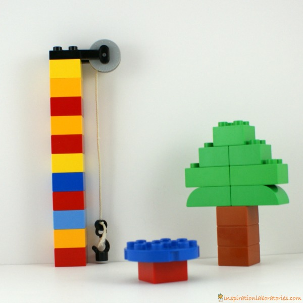 Playground tree, merry-go-round, pulley made from LEGO DUPLO