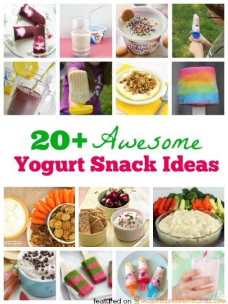 20+ Awesome Yogurt Snack Ideas sponsored by Yoplait
