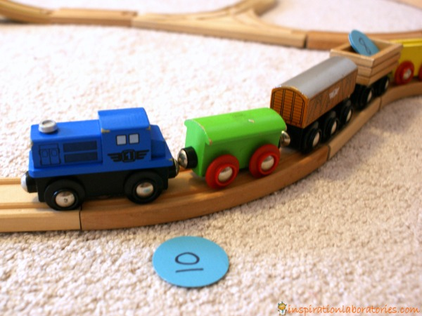 Skip counting inspired by Freight Train