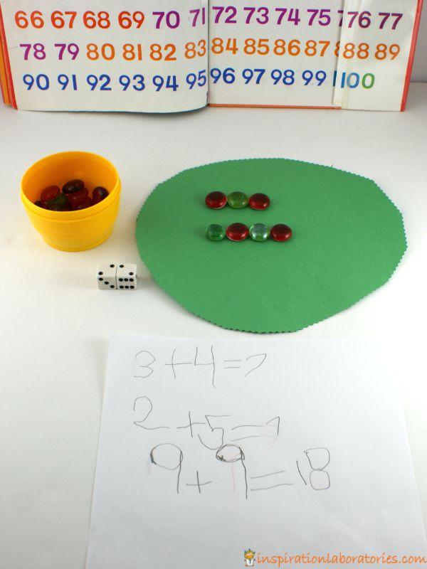 Apple Tree Math - addition practice