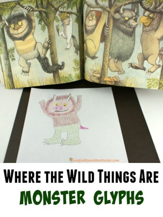 Monster Glyphs inspired by Where the Wild Things Are