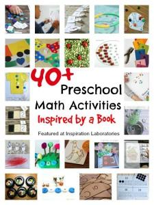 40+ Preschool Math Activities Inspired by a Book