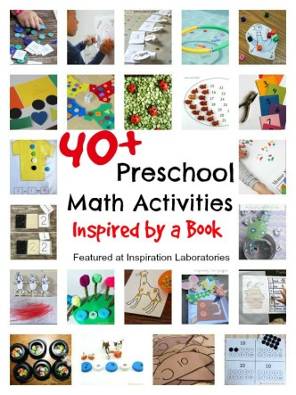 40+ Preschool Math Activities Inspired by a Book