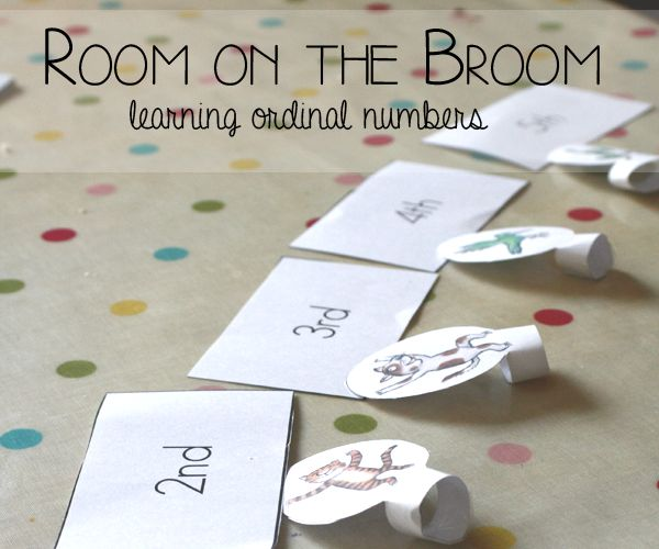 Room on the Broom: Learning Ordinal Numbers from Rainy Day Mum