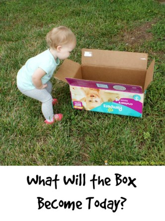 What will the box become today? Sponsored by New Pampers Cruisers