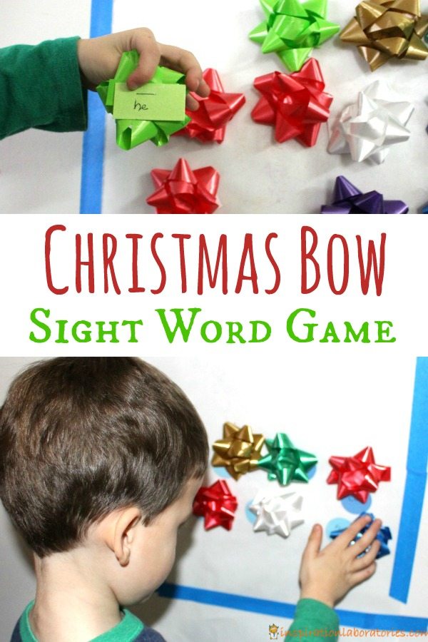 Christmas Bow Sight Word Game