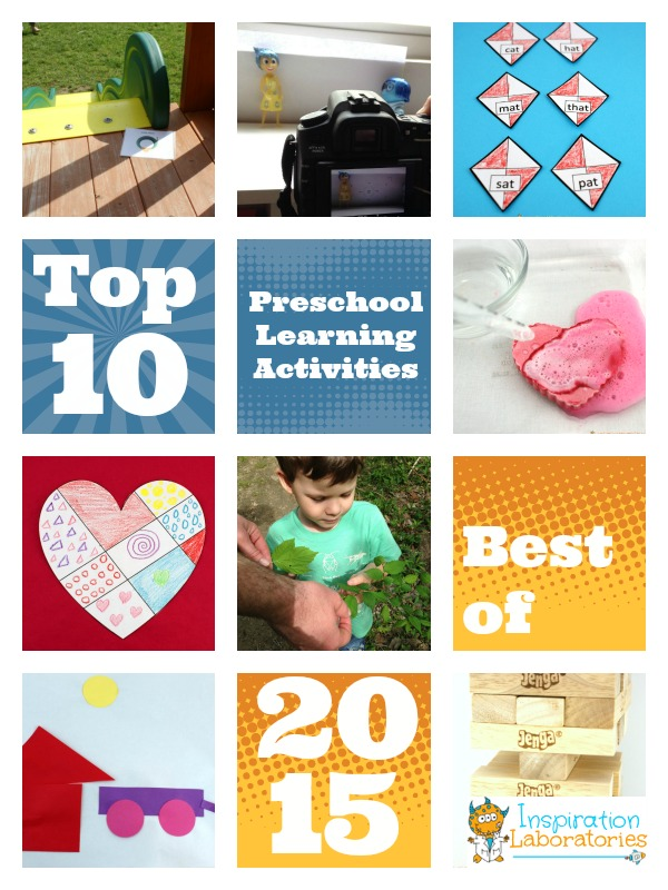 Top 10 preschool learning activities of 2015 at Inspiration Laboratories