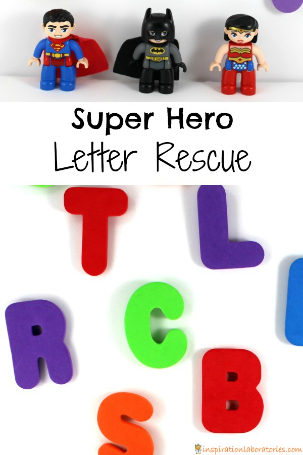 Super Hero Letter Rescue - Help the super heroes rescue the letters!