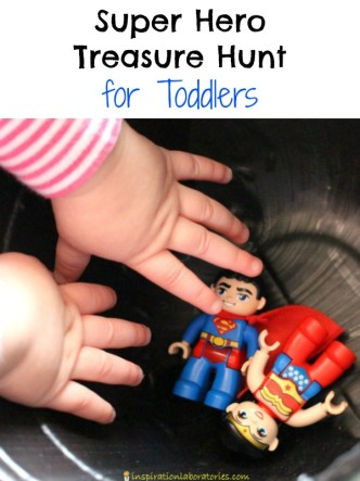 Toddlers will love this super hero treasure hunt!