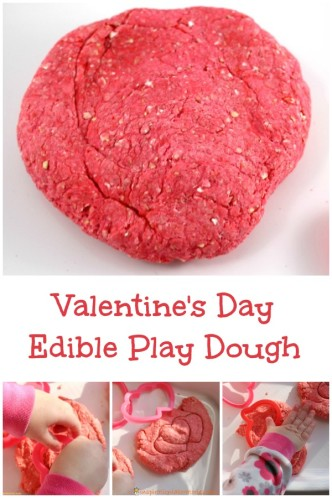 Valentine's Day Edible Play Dough