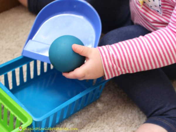 Practice sorting skills with this fun game for toddlers.