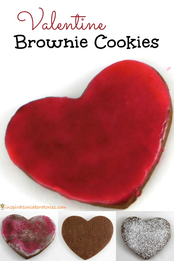 Valentine brownie cookies make a lovely dessert for Valentine's Day. Heart-shaped chocolate sugar cookies are a delicious and fun treat. Make them with your kids and share them with friends or neighbors.