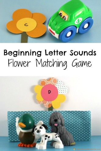 Beginning Letter Sounds Flower Matching Game - practice letter recognition and beginning sounds with this fun game