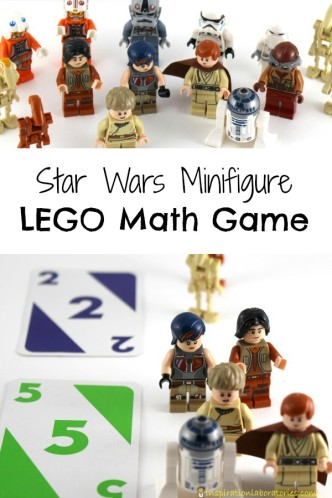 Star Wars Minifigure LEGO Math Game - such a fun way to practice addition and subtraction!